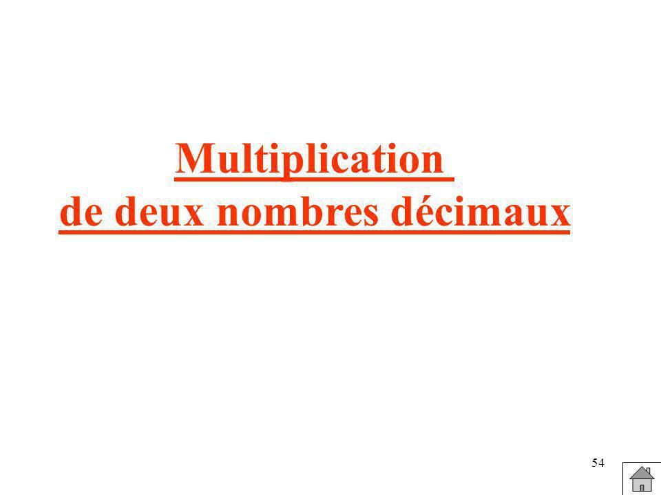 54 Multiplication de deux nombres décimaux