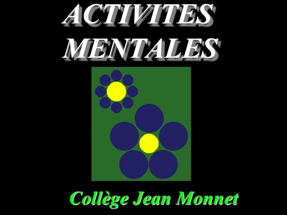 ACTIVITES MENTALES Collège Jean Monnet