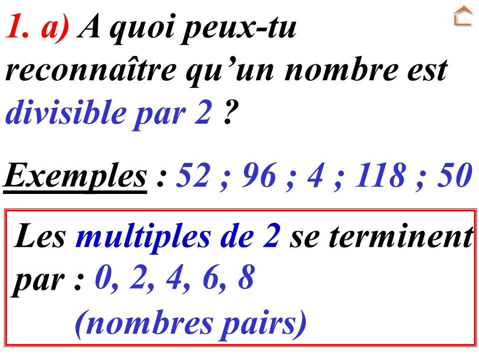 Les multiples de 5 se terminent par : 1.