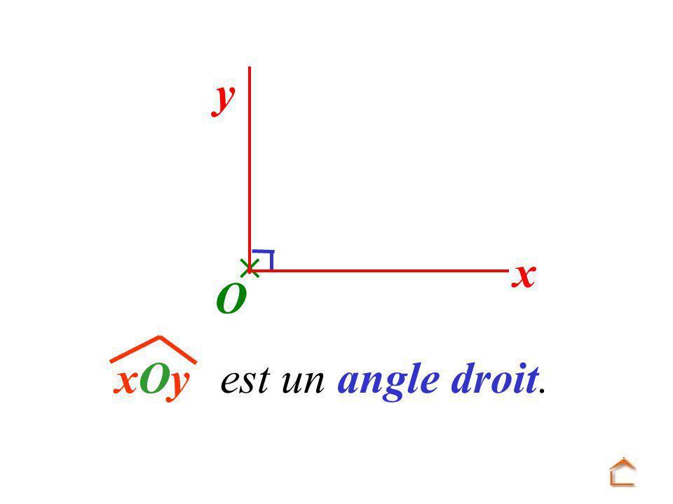 y x O xOyxOy est un angle droit.