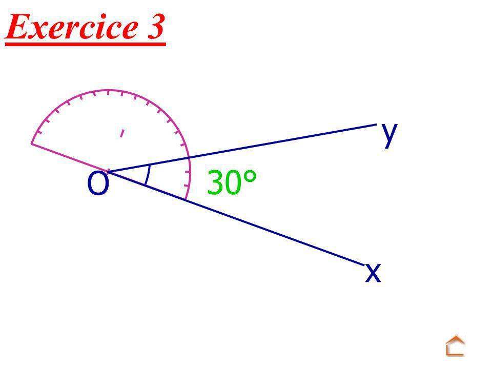 30° x O y Exercice 3