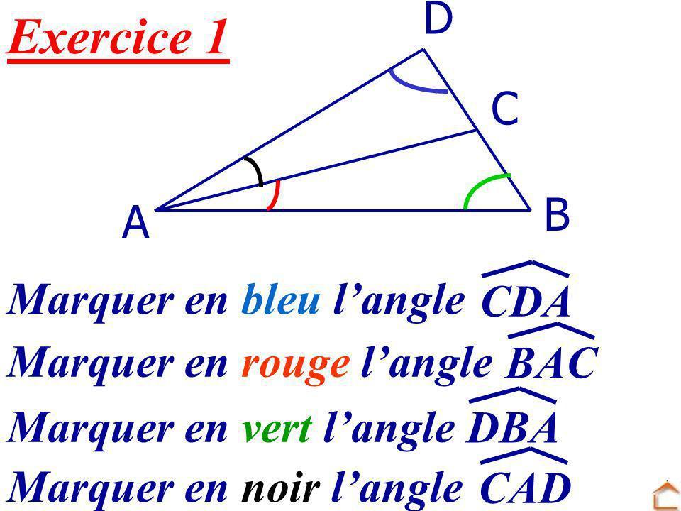 5. Construction dangles a) Construction dun angle de mesure donnée b) Reproduction dun angle