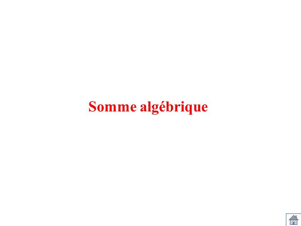 Somme algébrique