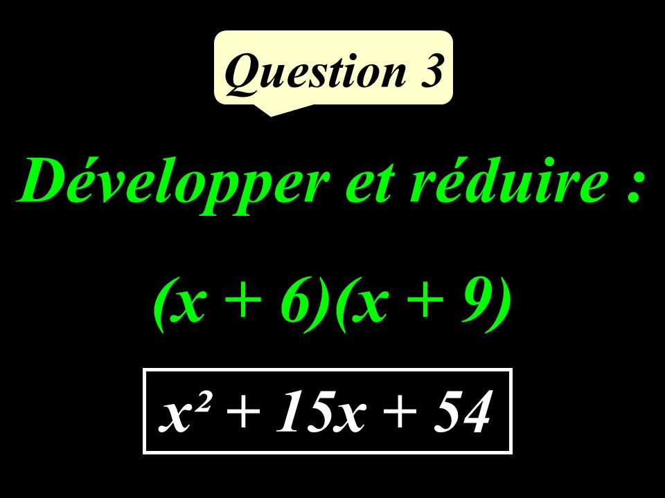 Question 2 RT² = 10² = 100 S T R 8 cm 10 cm 6 cm RS² + ST² = 6² + 8² = = 100 RT² = RS² + ST² Daprès la réciproque du théorème de Pythagore, RST est rectangle en S.