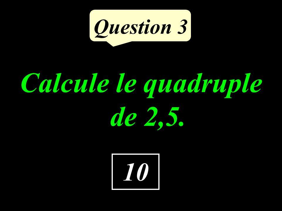 Question 2 Quelle est labscisse de C ? 23 C O 0 10