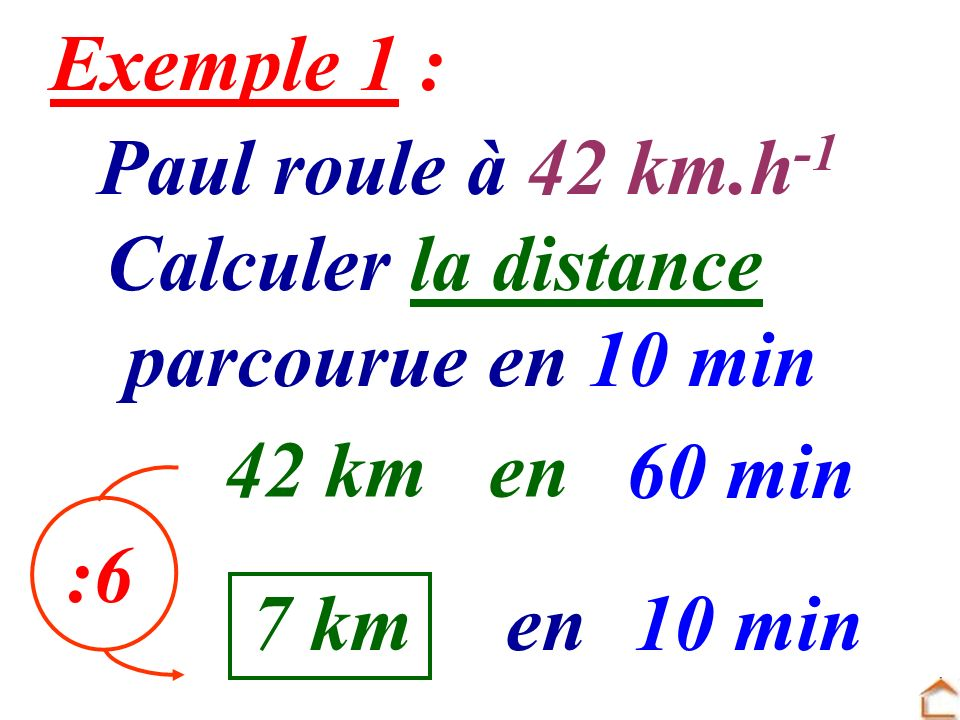 Alain roule à 80 km.h -1 Calculer la distance parcourue en 45 min 80 kmen 60 min .