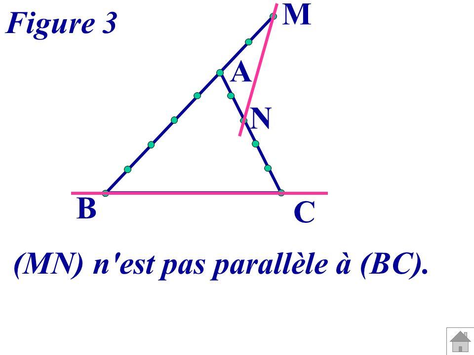 A B C M N Figure 3 (MN) n'est pas parallèle à (BC).