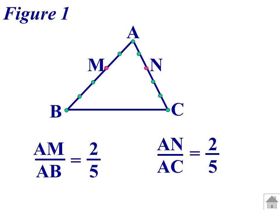 A B C M N AM AB = AN AC = 2525 2525 Figure 2