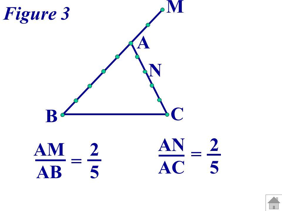 Bilan : A C M N A B C B M N - A, M et B sont alignés dans le même ordre que A, N et C.
