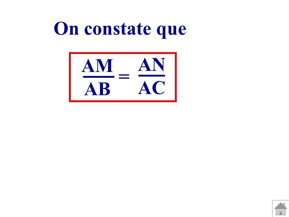 A B C M N A B C MN A B C M N Pour chacune des figures, que peut-on dire des droites (MN) et (BC) ?