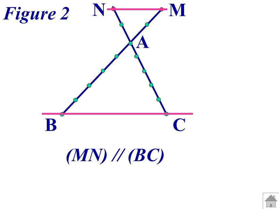 A B C M N Figure 3 (MN) n est pas parallèle à (BC).