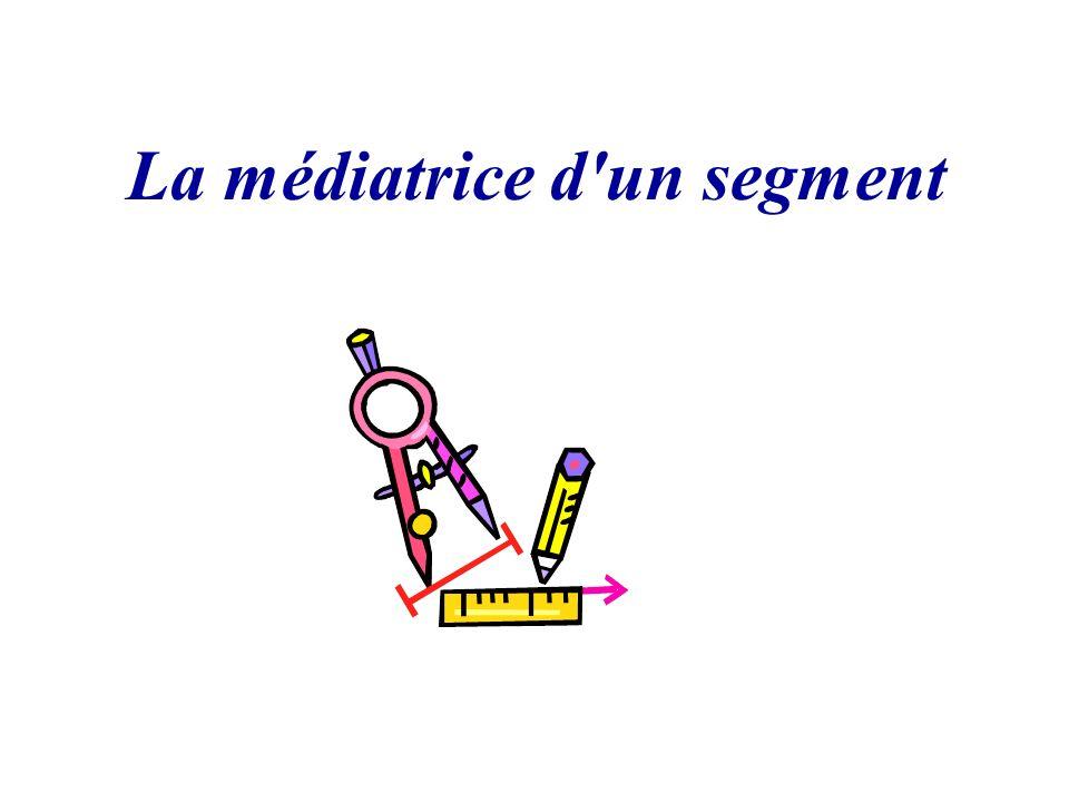 3.Une propriété de la médiatrice a. Construis [AB] de longueur 7cm.