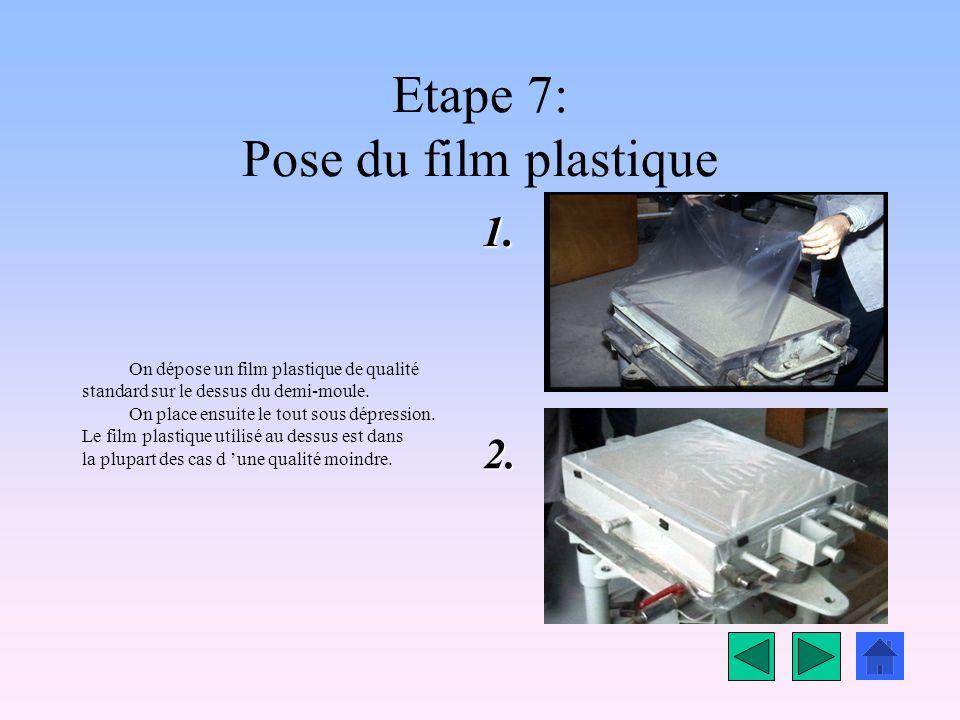 Etape 6: Vibrations du moule Pour assurer un bon compactage du sable, on va procéder à un cycle de vibrations du moule. Le demi moule est fixé à la ta