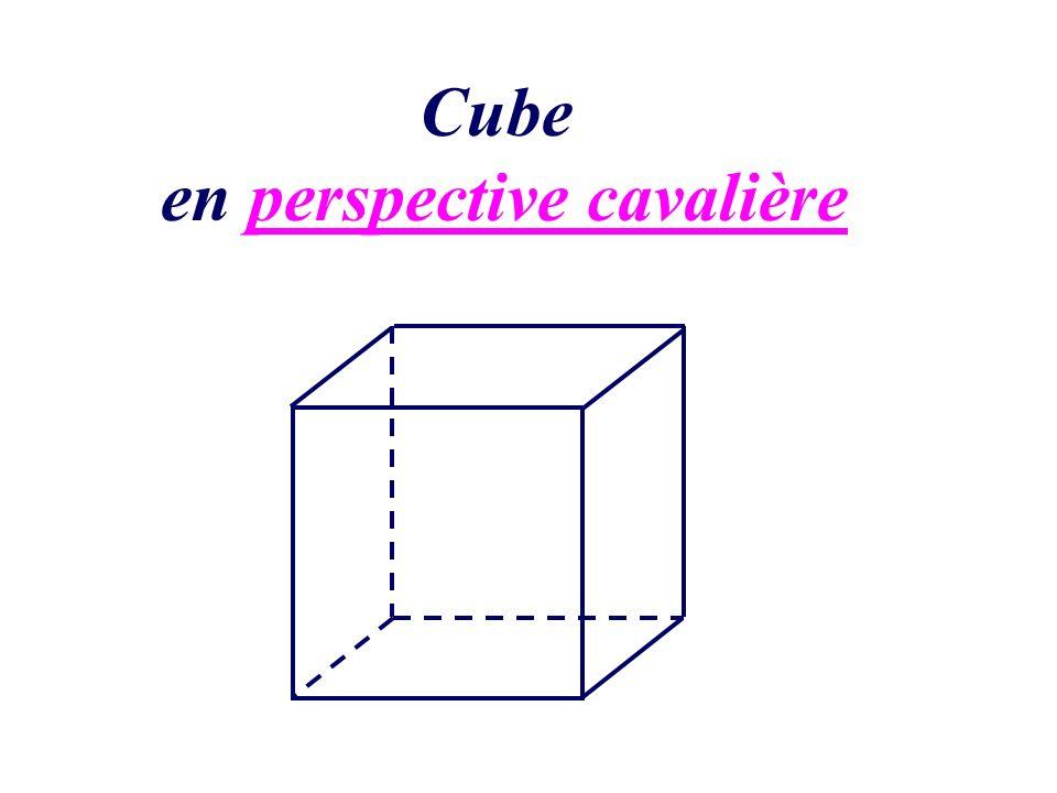 Cube en perspective cavalière