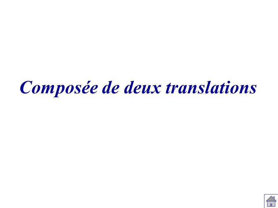 B A Le bonhomme vert est l image du bonhomme noir par la translation de vecteur AB.