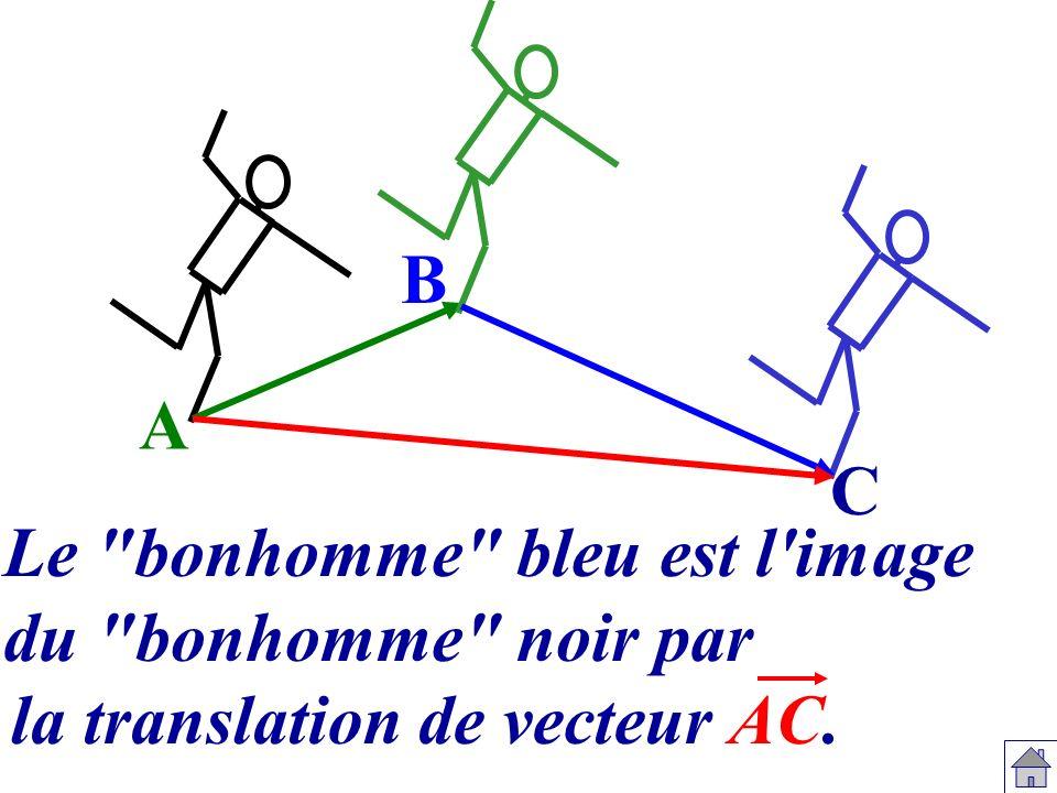La composée de la translation de vecteur AB B C A de vecteur AC.