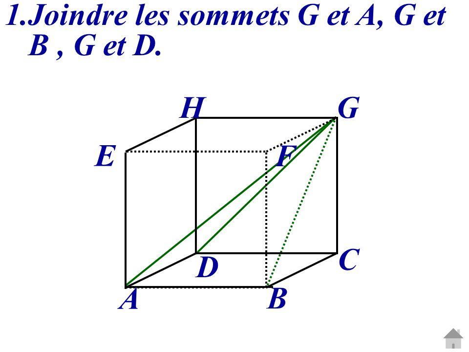 2.Nommer ses faces et déterminer leur nature : EFA : triangle rectangle et isocèle en E.