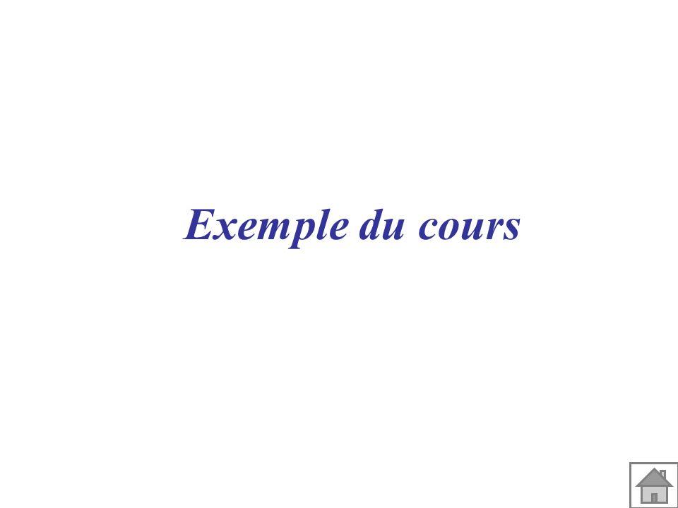 Exemple du cours