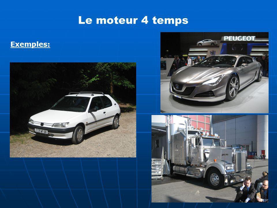 Le moteur 4 temps Exemples: