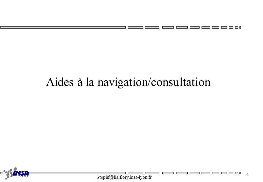 Stephf@lisiflory.insa-lyon.fr 4 Aides à la navigation/consultation