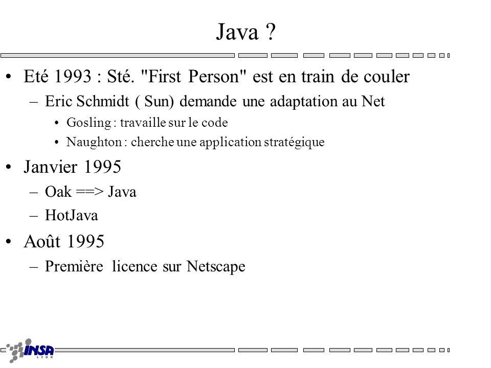 Java ? Eté 1993 : Sté.