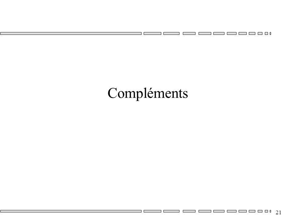 21 Compléments