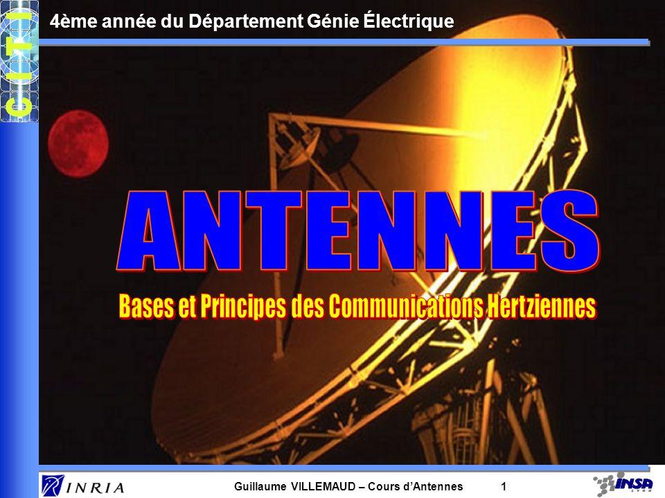 Guillaume VILLEMAUD – Cours dAntennes 1 4ème année du Département Génie Électrique