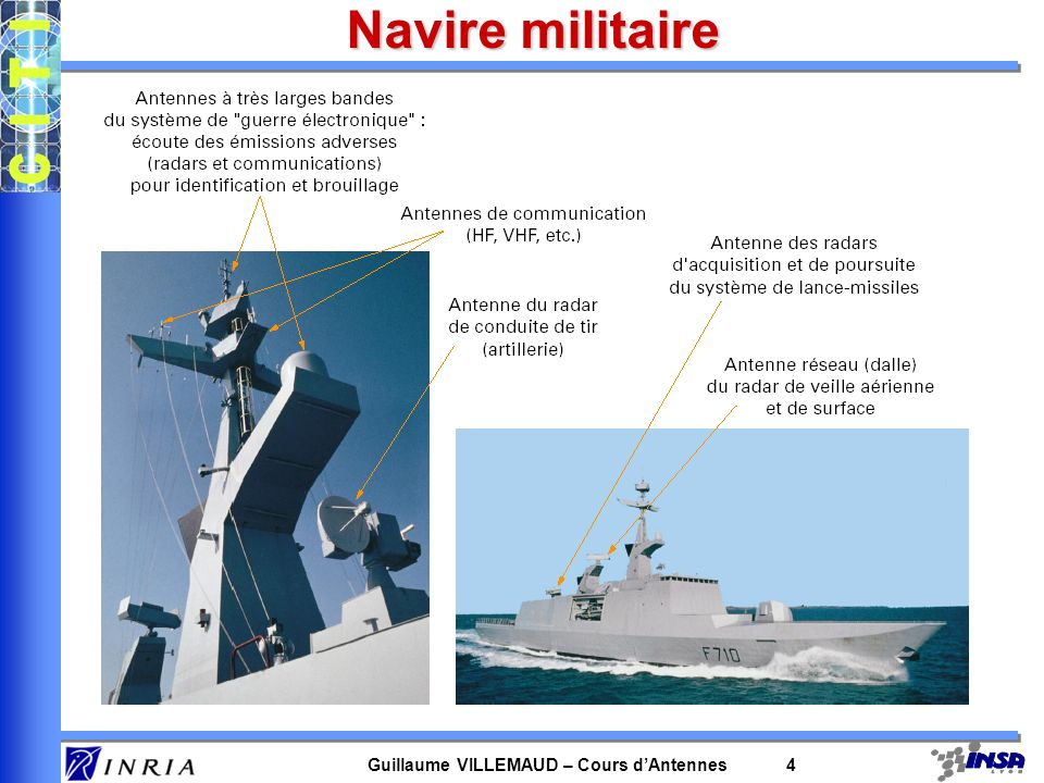 Guillaume VILLEMAUD – Cours dAntennes 4 Navire militaire