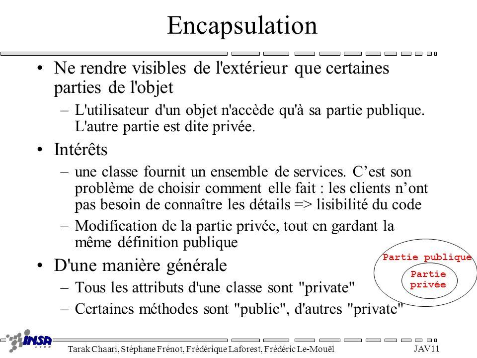 Tarak Chaari, Stéphane Frénot, Frédérique Laforest, Frédéric Le-Mouël JAV11 Ne rendre visibles de l'extérieur que certaines parties de l'objet –L'util