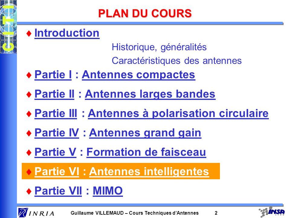 Guillaume VILLEMAUD – Cours Techniques dAntennes 52 Emission simultanée de 2 symboles sur A 1 et A 2 : h1h1h1h1 h2h2h2h2