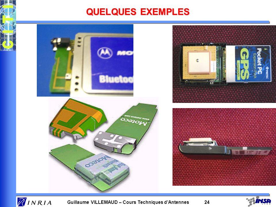Guillaume VILLEMAUD – Cours Techniques dAntennes 24 QUELQUES EXEMPLES