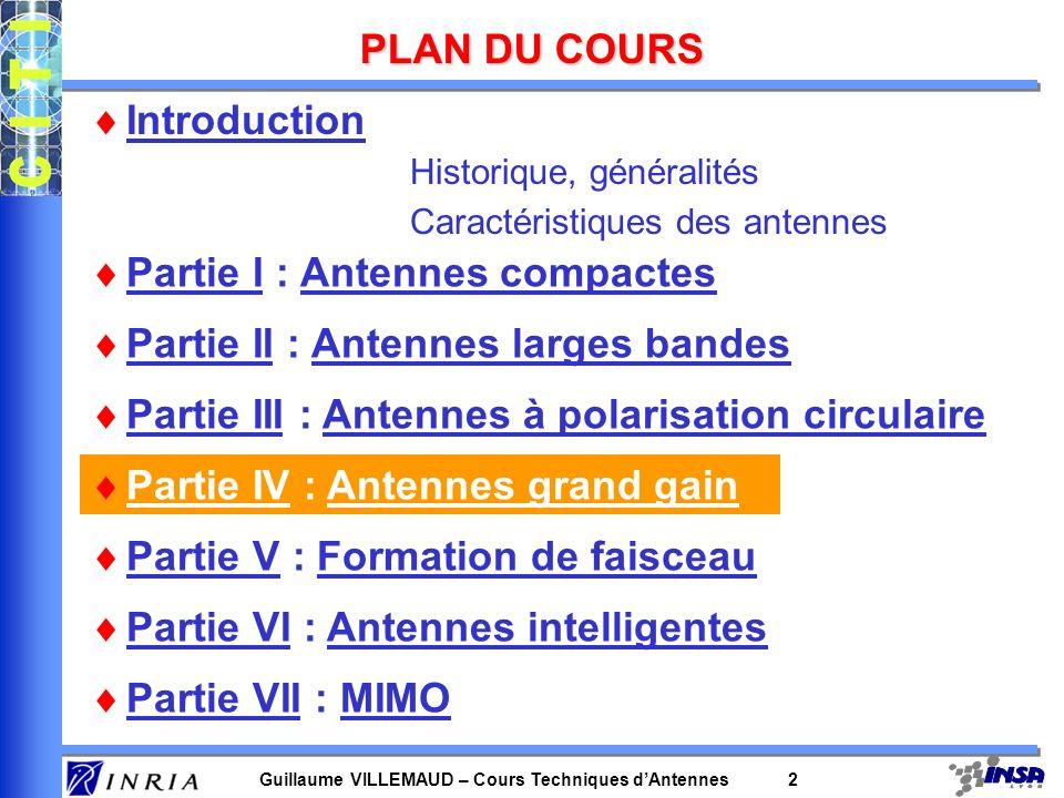 Guillaume VILLEMAUD – Cours Techniques dAntennes 3 POURQUOI DU GRAND GAIN .