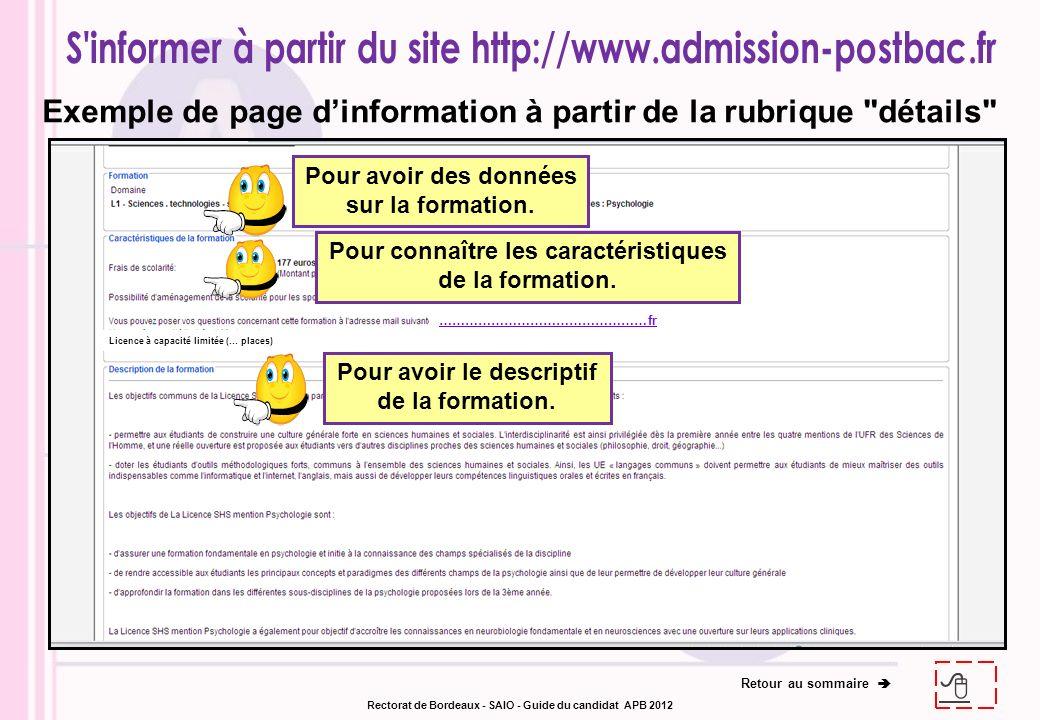 Exemple de page dinformation à partir de la rubrique