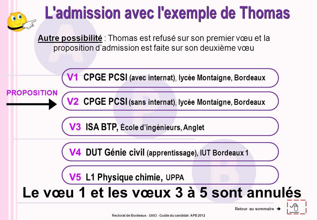 V1 CPGE PCSI (avec internat), lycée Montaigne, Bordeaux V3 ISA BTP, École dingénieurs, Anglet V4 DUT Génie civil (apprentissage), IUT Bordeaux 1 V2 CP