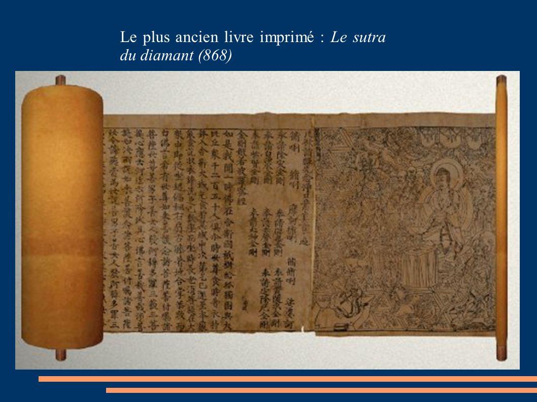 Le plus ancien livre imprimé : Le sutra du diamant (868)