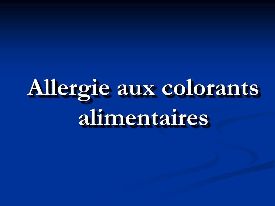 Allergie aux colorants alimentaires