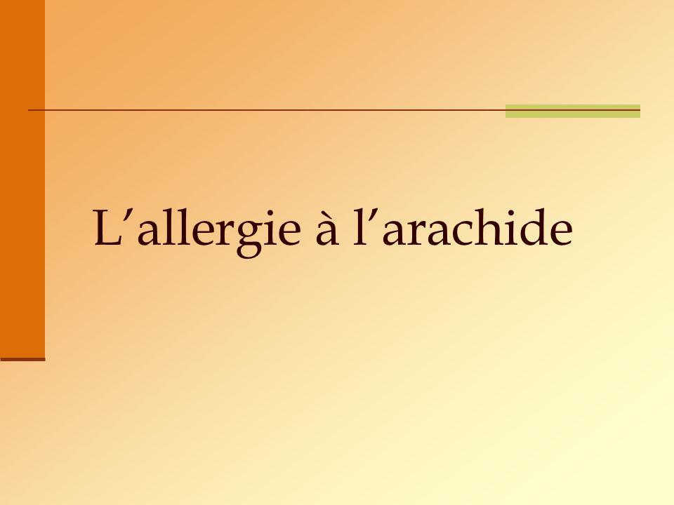 Lallergie à larachide