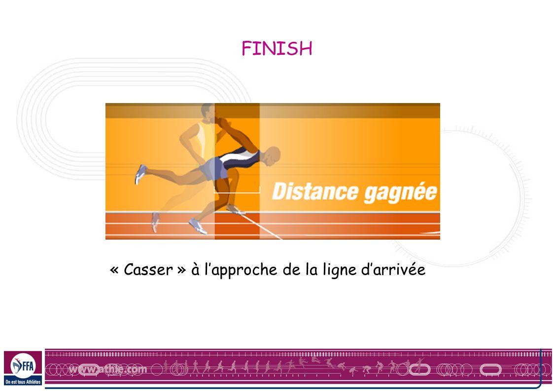 « Casser » à lapproche de la ligne darrivée FINISH