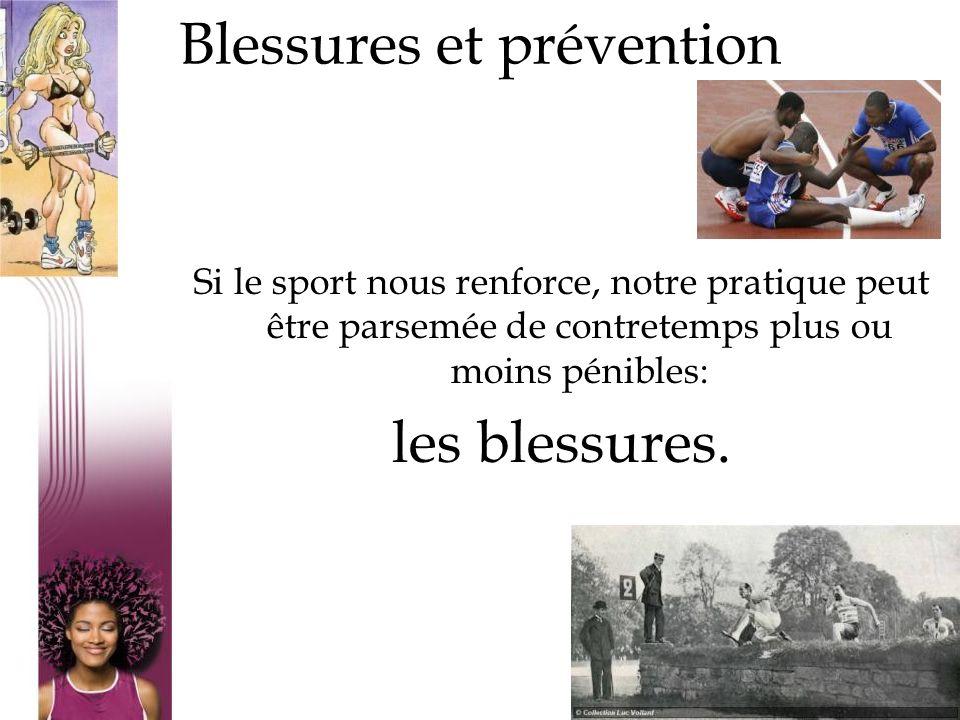 Si le sport nous renforce, notre pratique peut être parsemée de contretemps plus ou moins pénibles: les blessures. 12