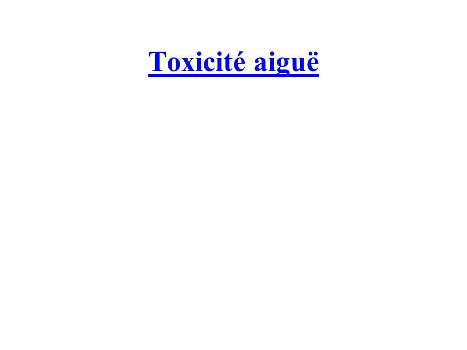 Toxicité aiguë
