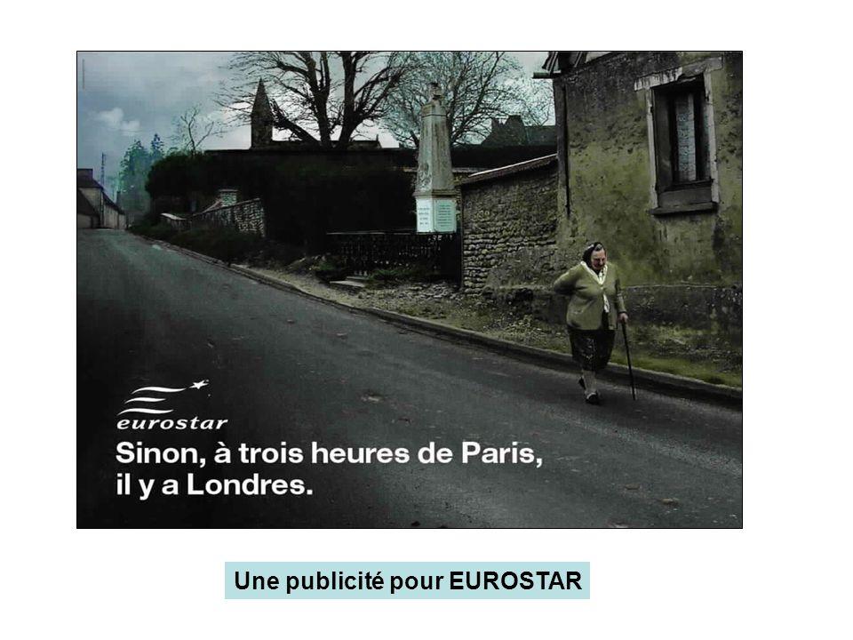 Une publicité pour EUROSTAR