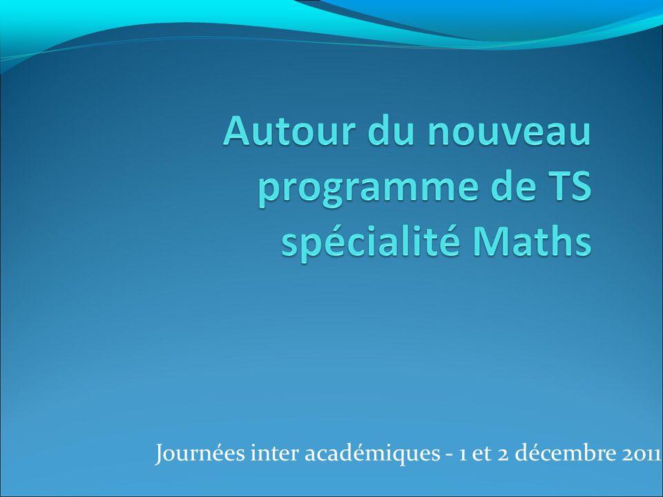 Journées inter académiques - 1 et 2 décembre 2011