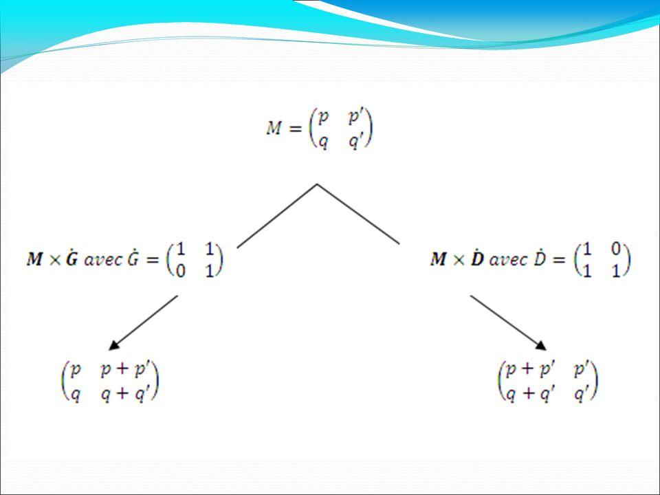 Matrices de déplacement: