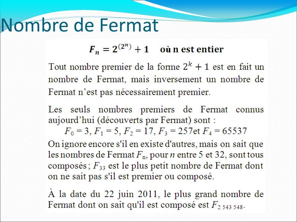 Nombre de Fermat