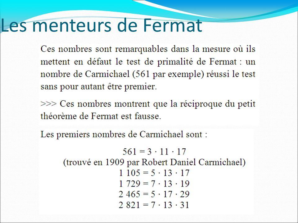 Les menteurs de Fermat