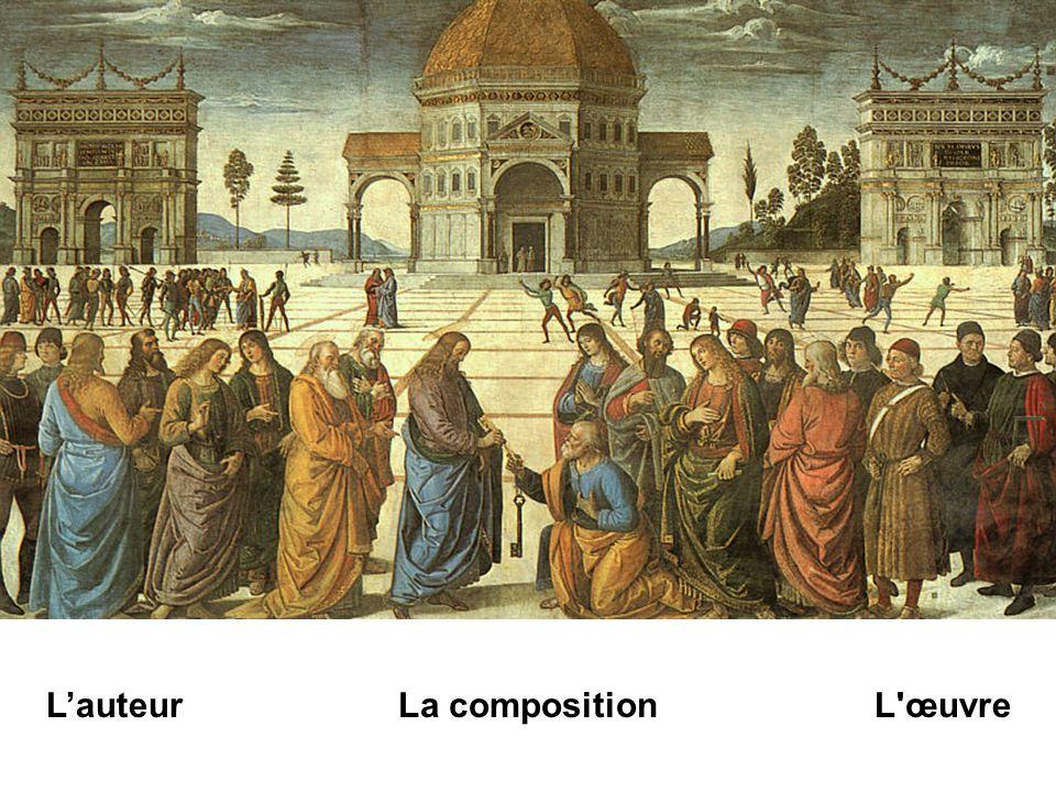 lapidation Sur la place se déroulent deux scènes également tirées des Évangiles : à droite, la tentative de lapidation du Christ, à gauche, le paiement du tribut.