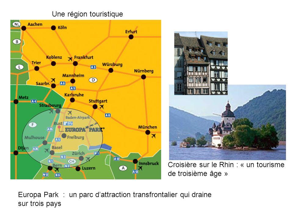 Europa Park : un parc dattraction transfrontalier qui draine sur trois pays Croisière sur le Rhin : « un tourisme de troisième âge » Une région touris
