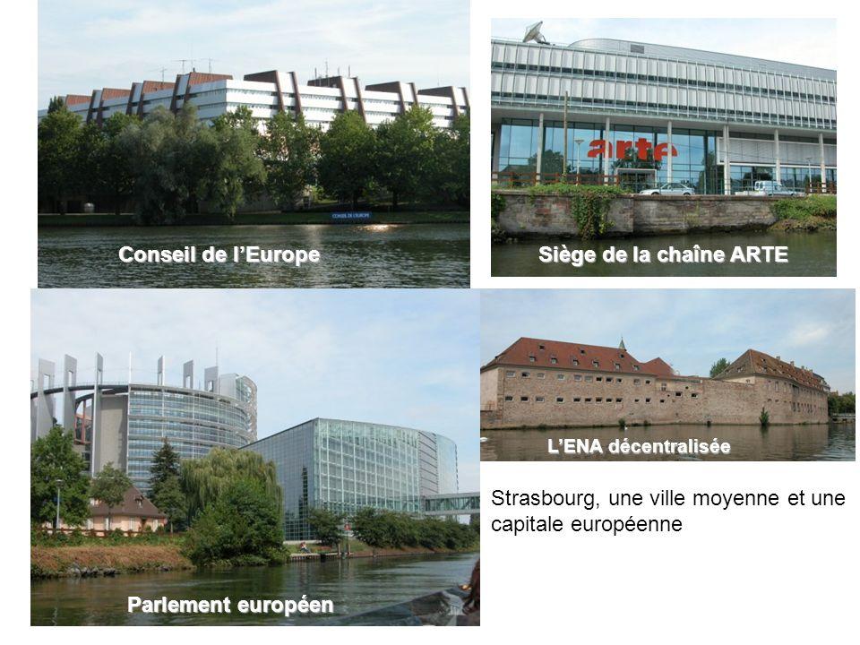 Conseil de lEurope Parlement européen Siège de la chaîne ARTE LENA décentralisée Strasbourg, une ville moyenne et une capitale européenne
