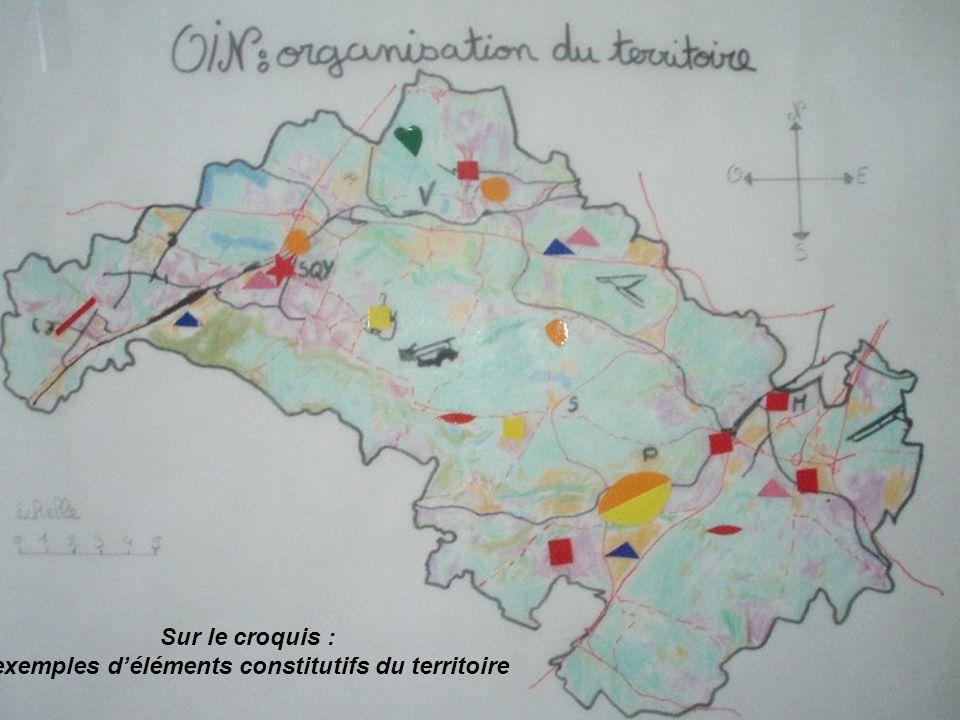 Sur le croquis : exemples déléments constitutifs du territoire