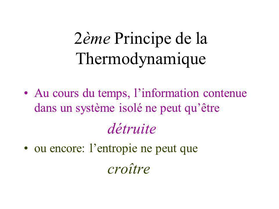 Théorie de lInformation Claude E. SHANNON 1948: « A Mathematical Theory of Communication » -théorie de linformation -lentropie mesure la perte dinform